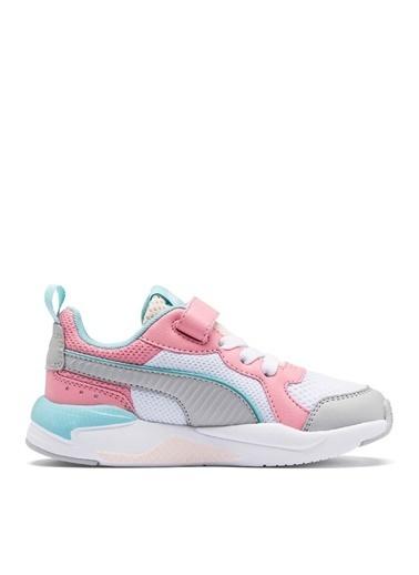 Puma Puma 37292105 X-Ray Beyaz - Pembe - Mavi Kız Çocuk Yürüyüş Ayakkabısı Beyaz